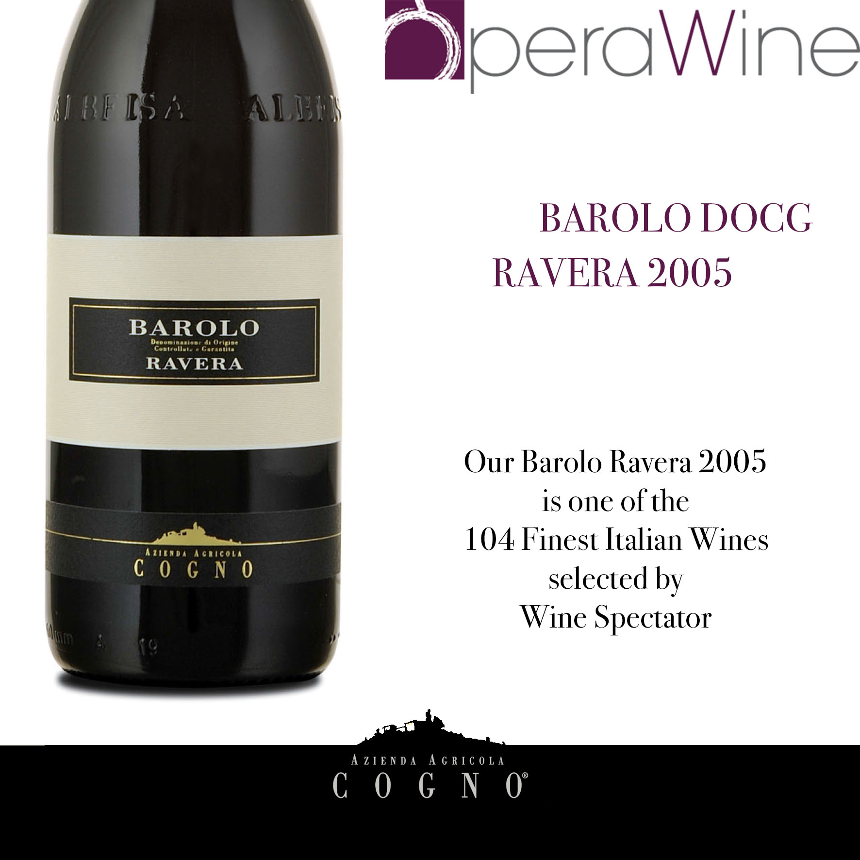 OperaWine 2017: Barolo Ravera 2005 is among the finest 104 Italian wines of the world