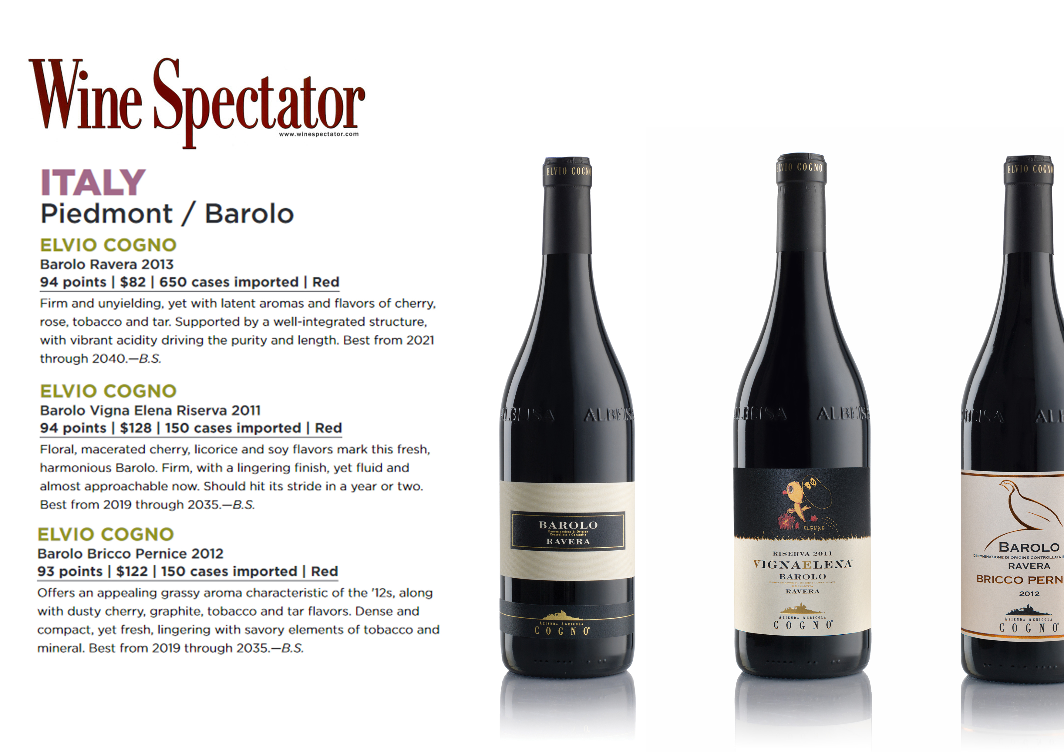 Wine Spectator – ITALY Piedmont/Barolo