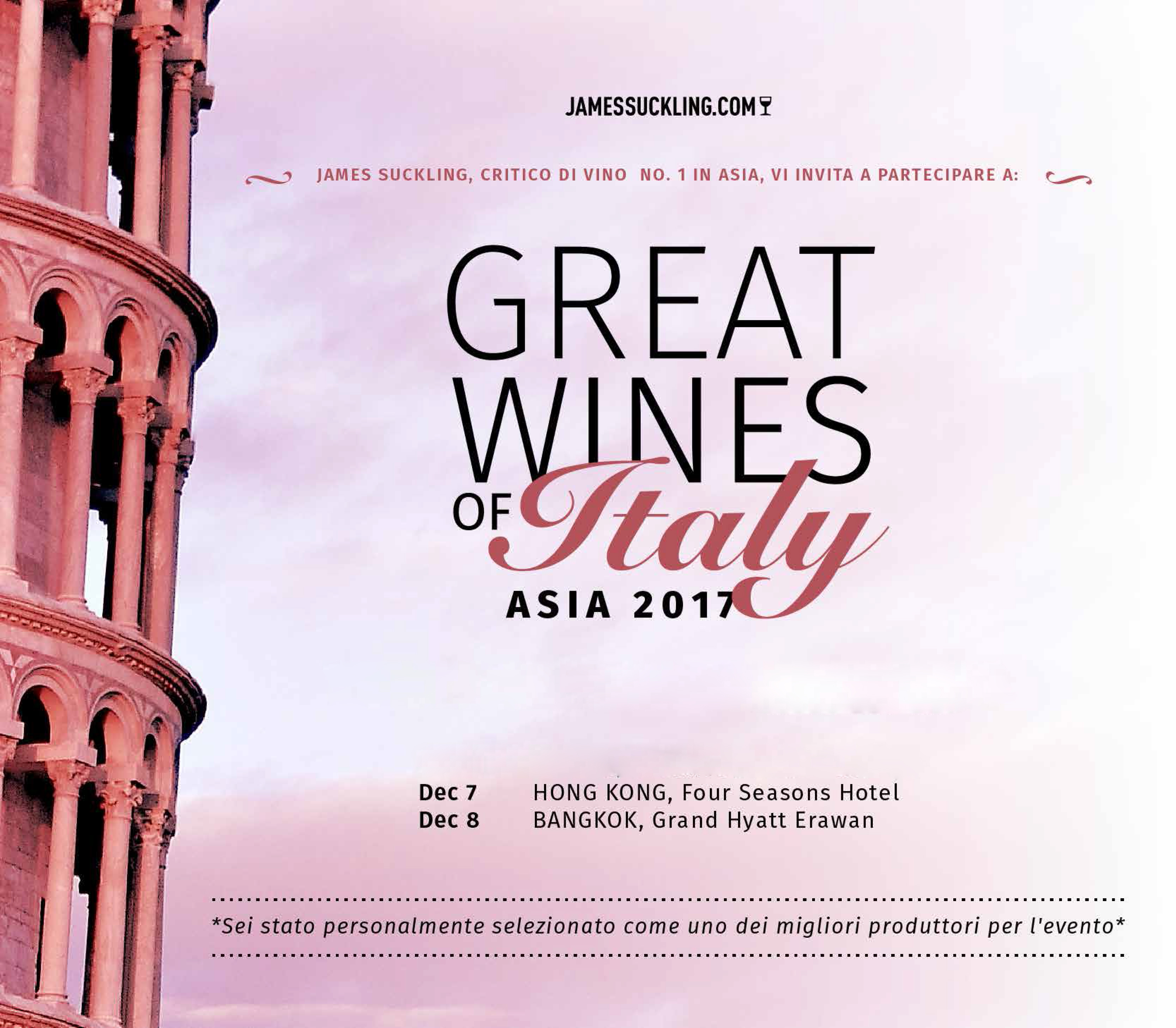 The Great Wines of Italy – HONG KONG & BANGKOK