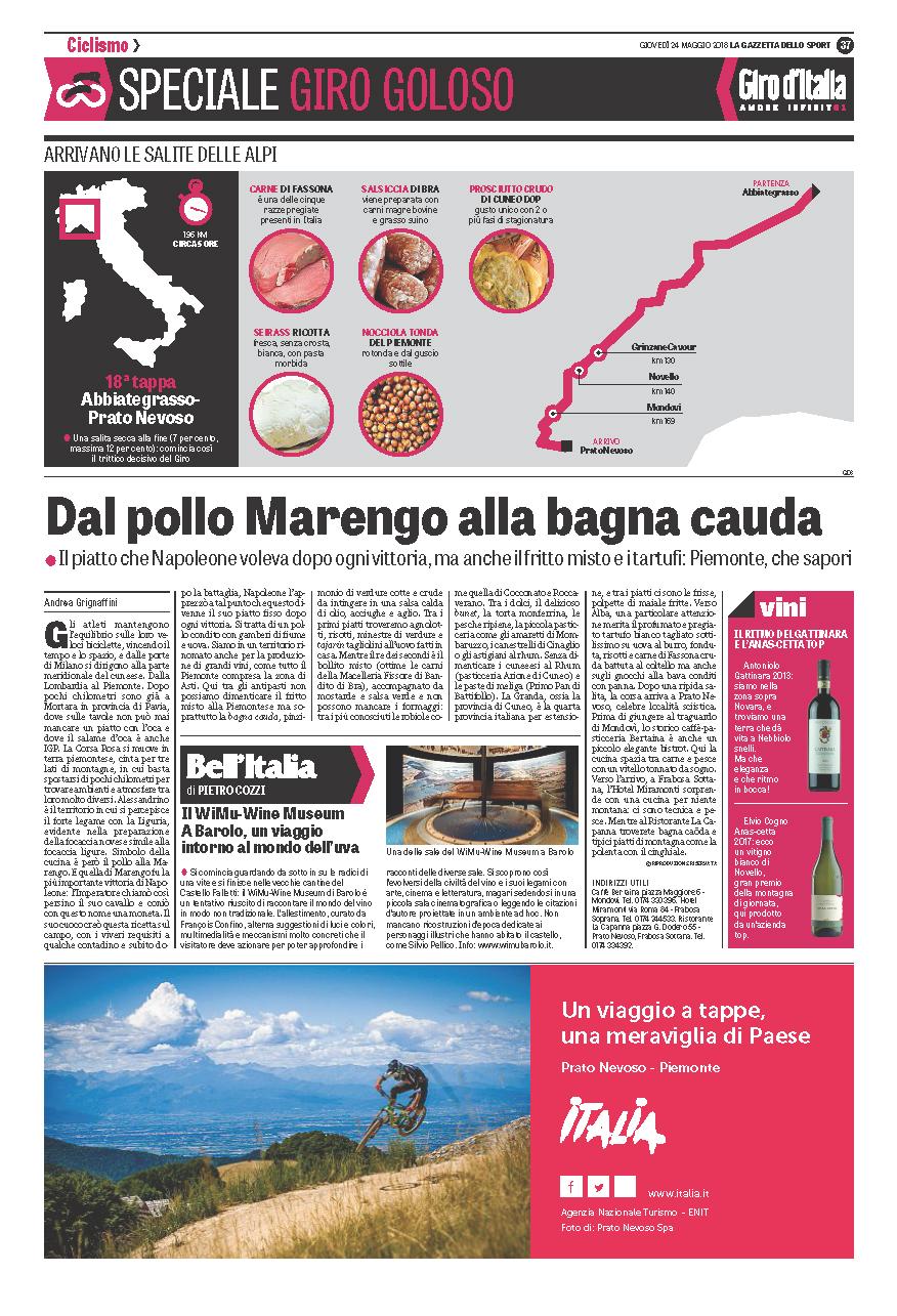 Nascetta..il vino del Giro d'Italia!