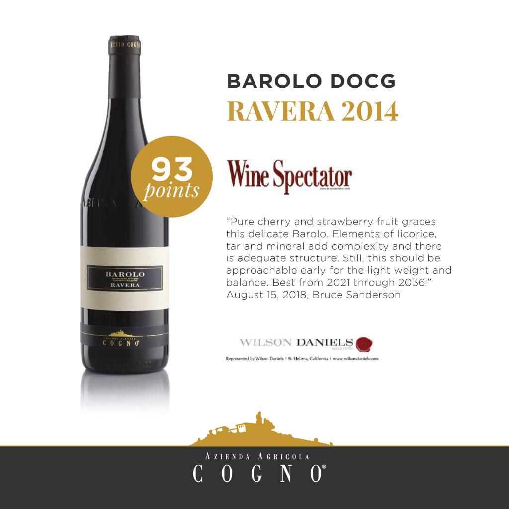 Wine Spectator premia il Barolo Ravera 2014
