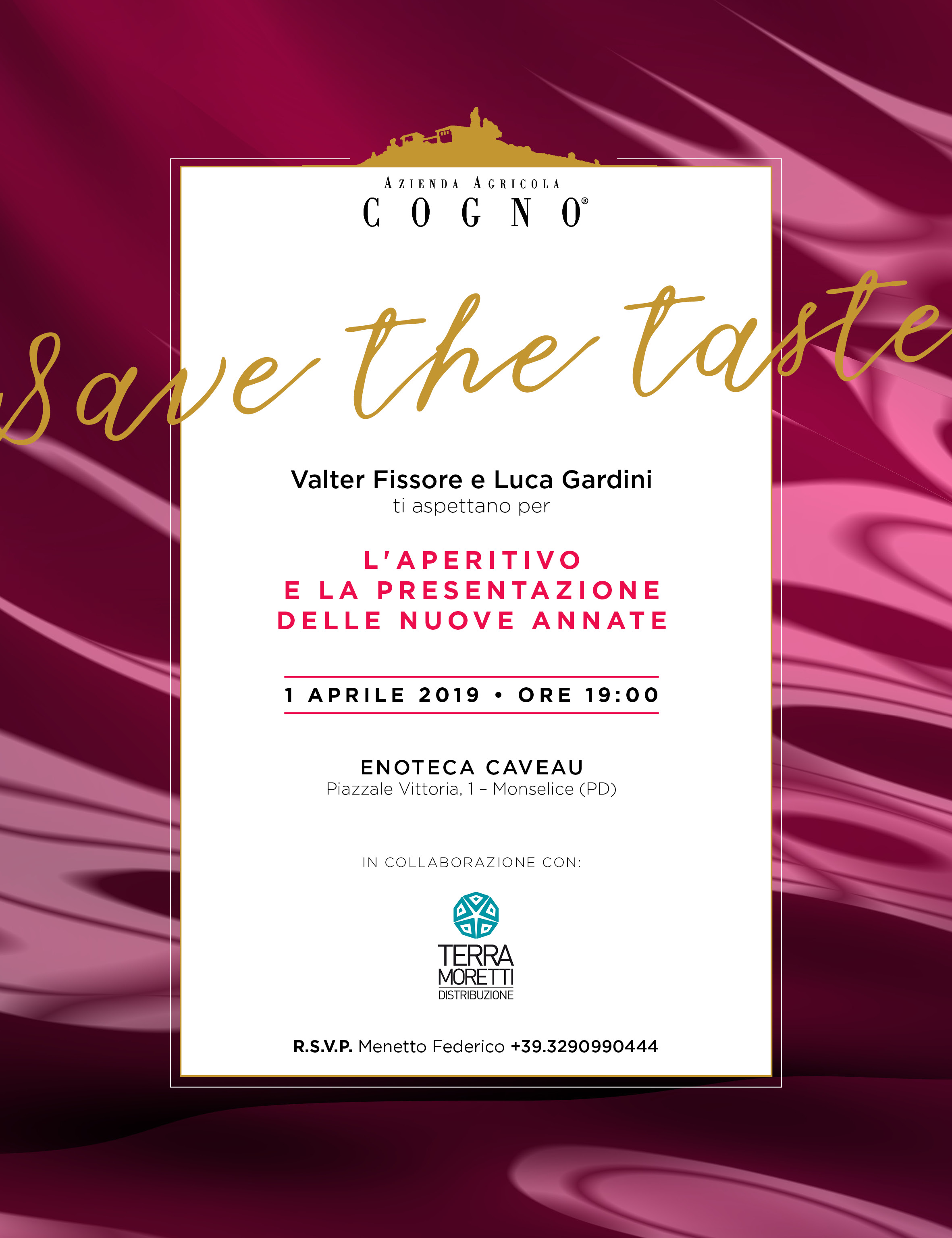 Save the taste! An aperitivo with Luca Gardini and Valter Fissore