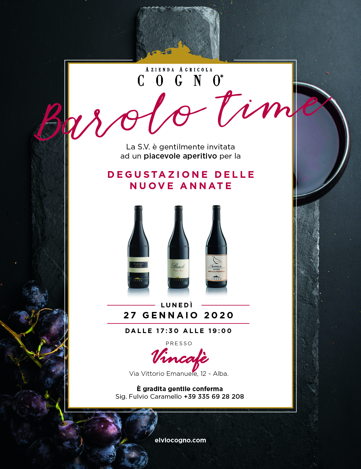 Elvio Cogno new vintages showcase @VinCafé