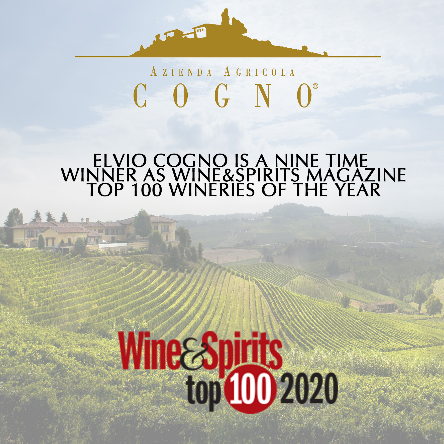 WINE&SPIRITS TOP 100 WINERIES OF THE YEAR 2020